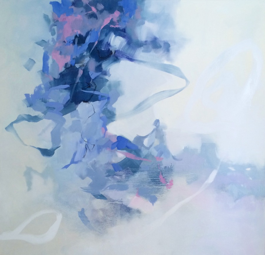 """Exhale"", oil on canvas, 48x50 @ The Drawing Room"
