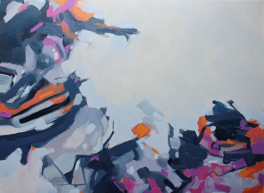 """Rhythm, Return II"", oil on paper, 22x30, $1,000 @ Carrie Coleman Fine Art Dealer"