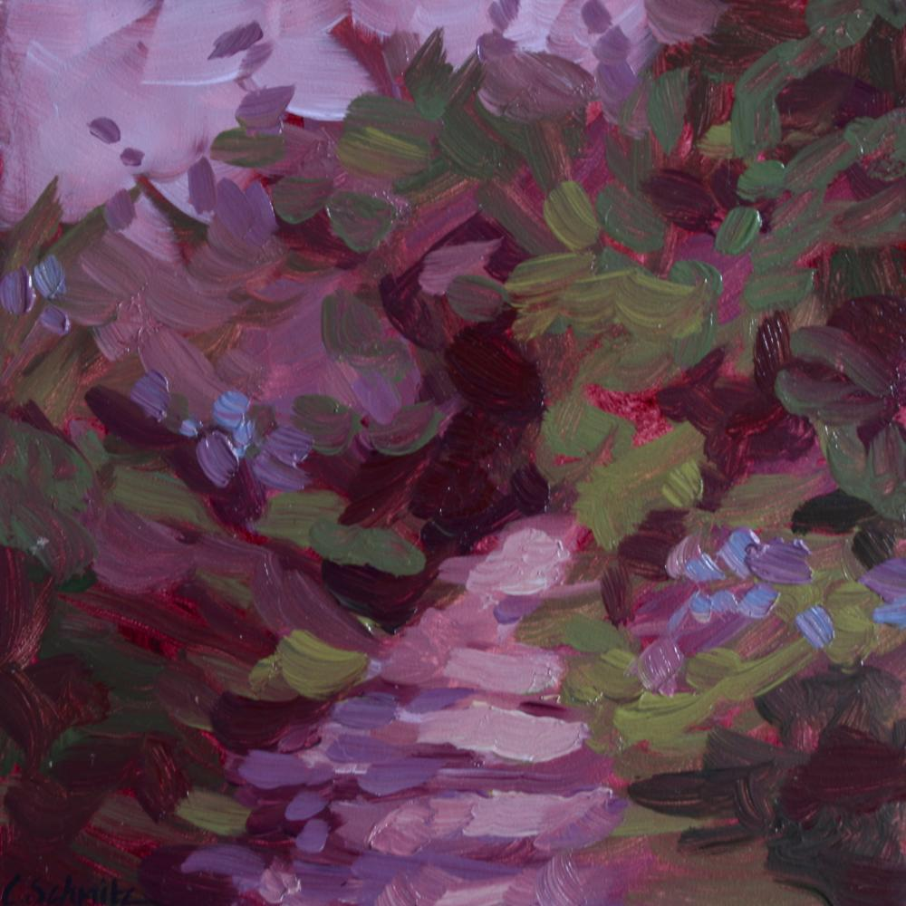 """Violet Traverse"", oil on panel"